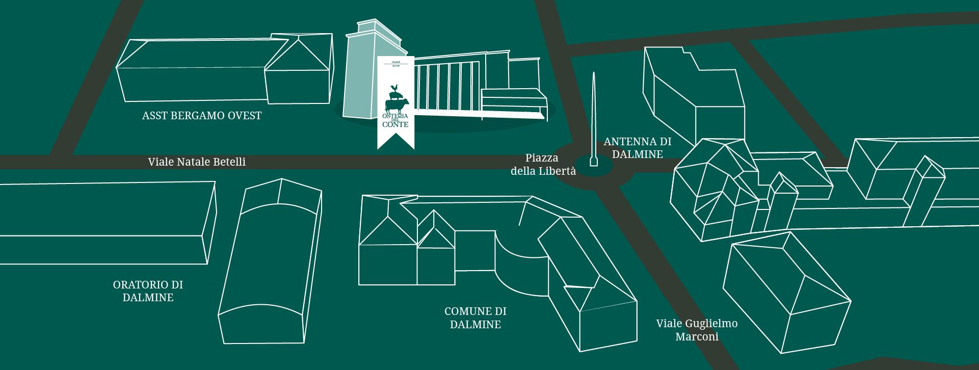 mappa osteria del conte
